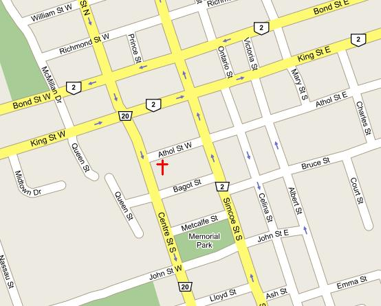 St Georges - Map of oshawa streets
